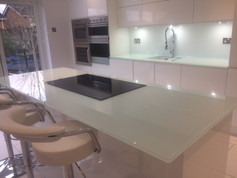 Mint splashbacks and worktops