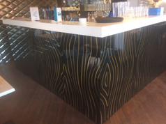 Under counter printed glass
