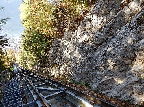 Surveillance de la voie du funiculaire - Mont-Soleil - dangers naturels