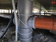 Разводка системы канализации под домом в