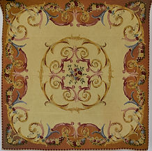 Item #13 Jacquard Aubusson Style Tapestr
