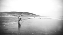 Filming at Croyde Bay...