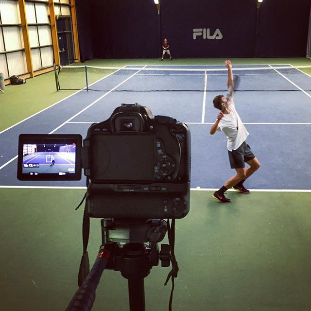 Filming for Tennis Smart...