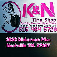 K&N Tire Shop Logo