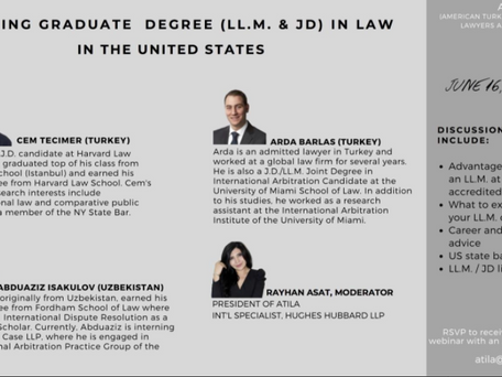 Pursuing a Graduate Degree (LL.M. & J.D) in Law in the United States