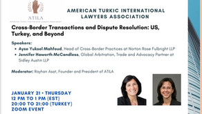 Cross Border Transactions and Dispute Resolutions, United States, Turkey and Beyond.