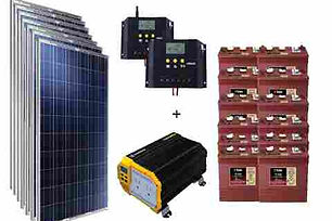 sistema solar con bateria