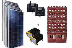 sistema solar con baterias
