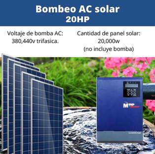 Bomba Solar 20hp