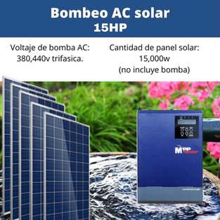 Bomba Solar 15hp