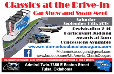 Classics at the Drive-In Car Show and Swap Meet is gearing up to be a great event!!!
