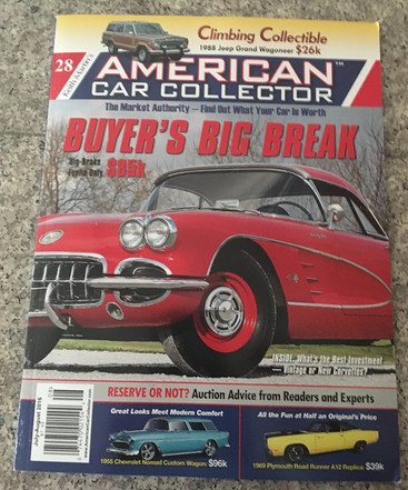 American Car Collector Magazine helps with Goodie Bags