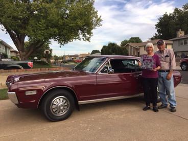 Chuck and Mavis Parnell registered a beautiful 68
