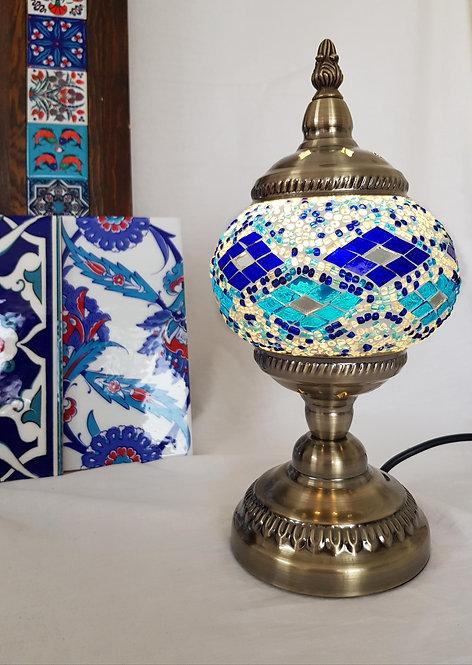 Blue Dimond Mosaic Stand Lamp Small