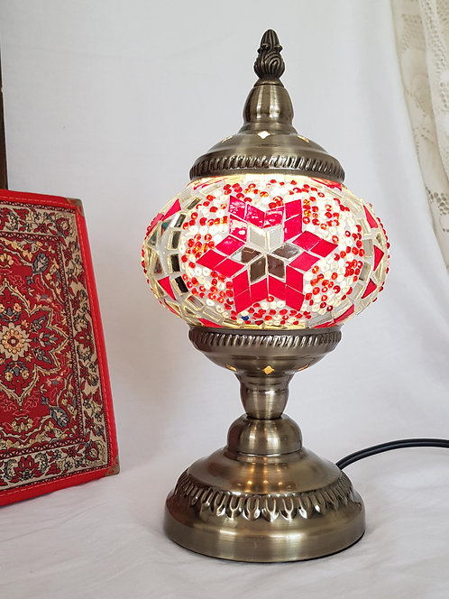 Red Mosaic Stand Lamp 13cm
