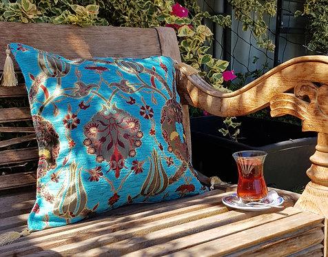 Lale Cushion Cover Aqua/Turquoise