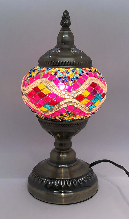 Carnival Pink Mosaic 13cm Stand Lamp