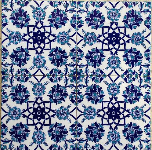 Tile 20x20cm BLUE BACHE