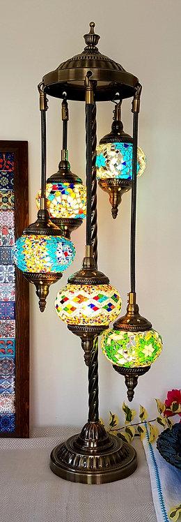 5 Hanging Mosaic Chandelier Lamp Turkish Morrocan Boho Inspired