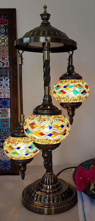 3 Hanging Multi Diamond Chandelier Mozaic Lamp Turkish Style