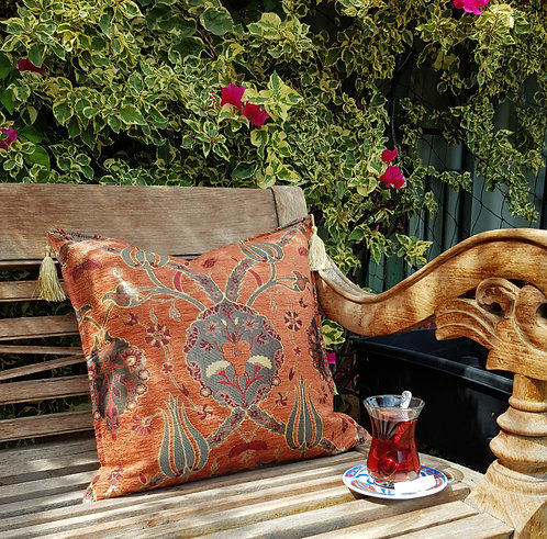 Lale Cushion Cover Burnt Orange