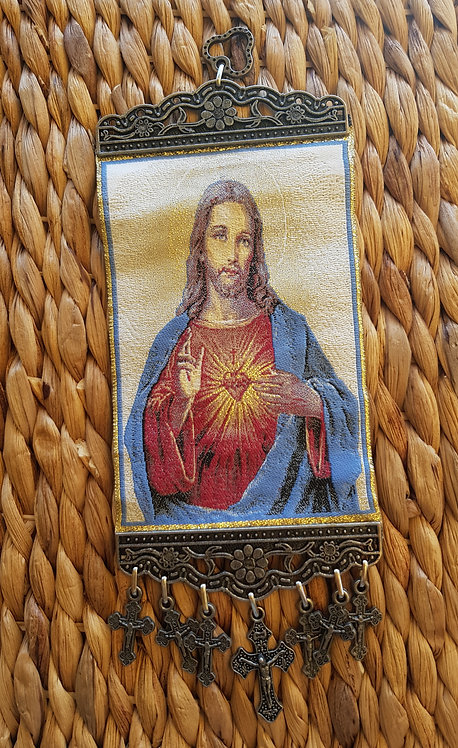 Wallhanging Art Jesus Icon Small/Large
