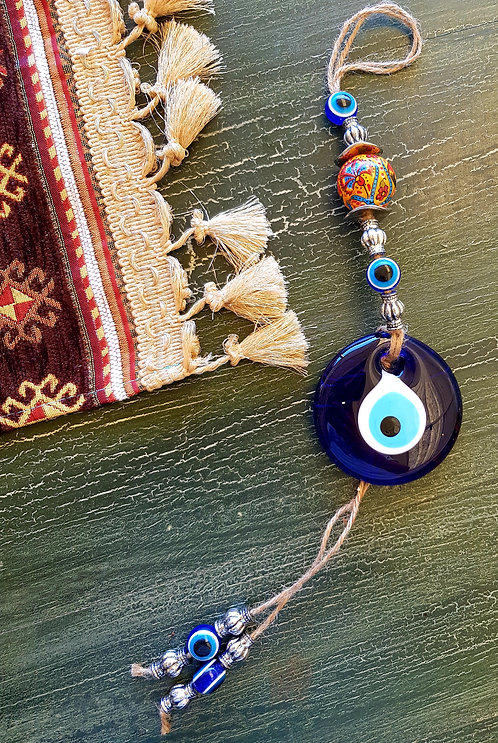 Iznik Ceramic Eye Wallhanging