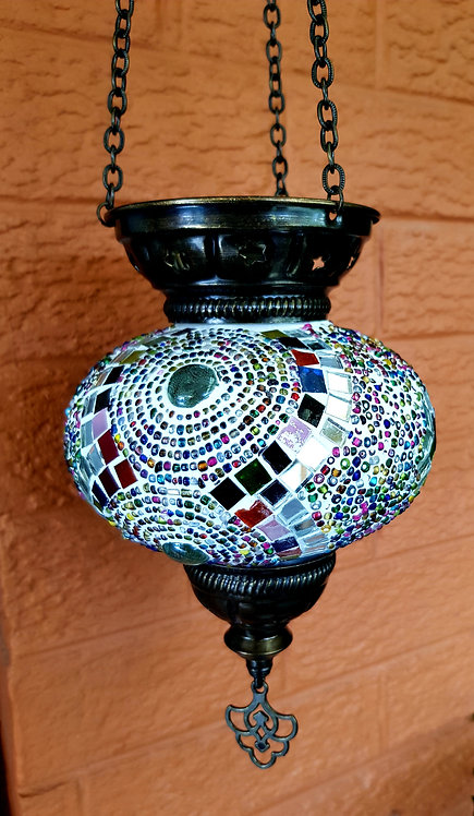 Large Hanging Mosaic Tealight Turkish Morrocan Boho