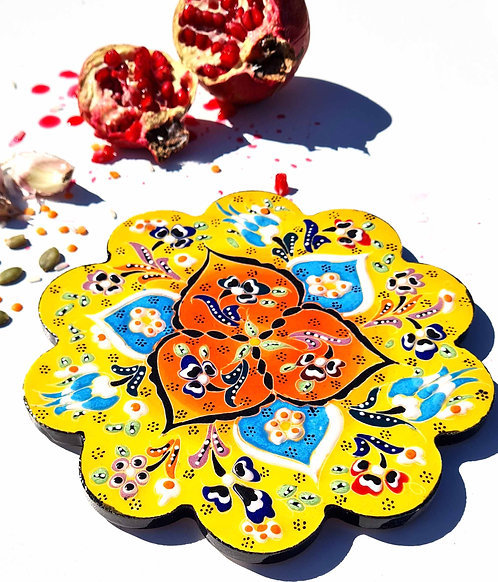 Hot Pot Trivet Ceramic - Sunshine HandPainted