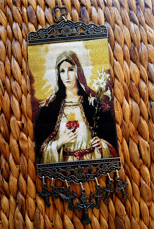 Wallhanging Art Sacred Heart Mary Small and Large
