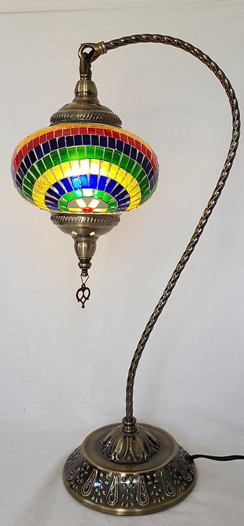 XL Tiffany Mosaic Swan Necked Lamp