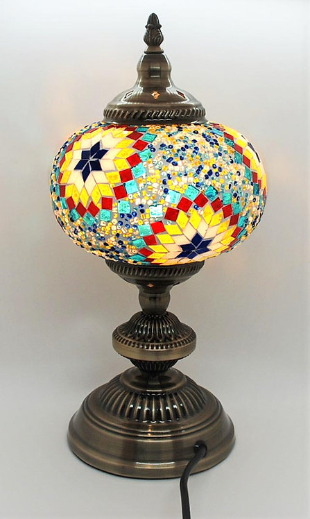 Turkish Morrocan Mosaic Large Stand Lamp Sunflower