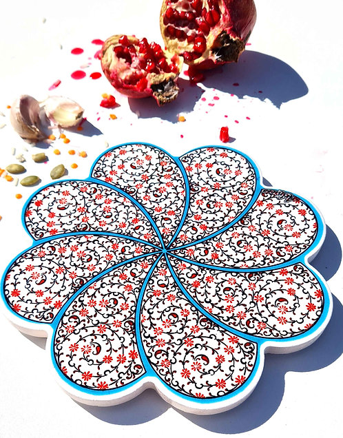 Hot Pot Trivet Ceramic -Spiral Garden