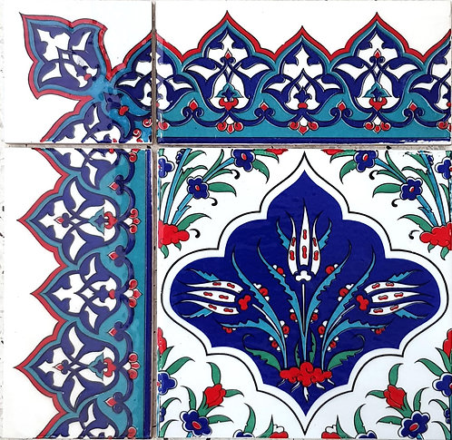 "Border Tile 20x10cm ""Carpet Edge"""