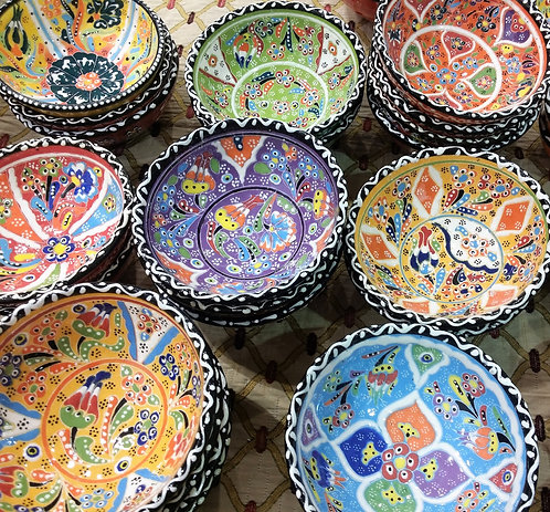 3x10cm Handpainted Ceramic Bowls