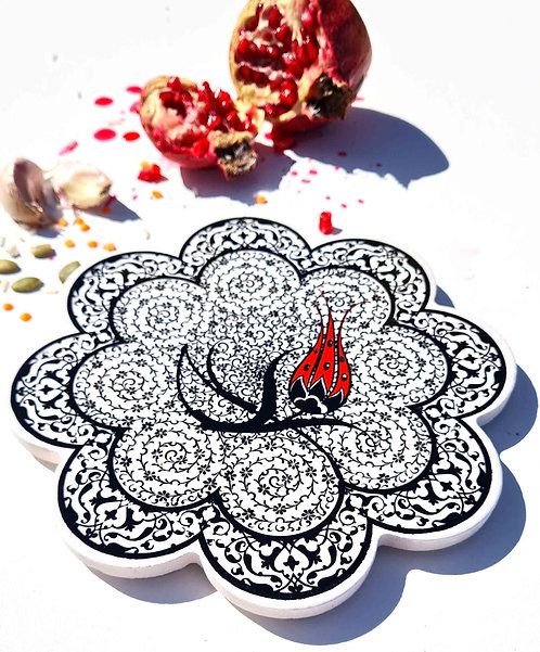 Hot Pot Trivet Ceramic -Black Lale