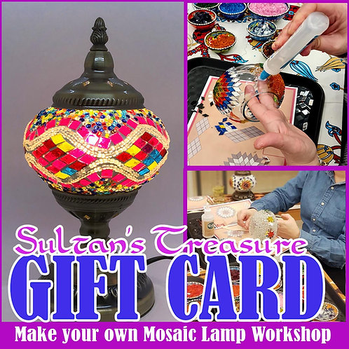 Sultan's Make Your Own Mosaic Lamp Gift Card