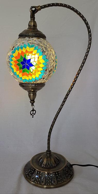 XL Mystic Mosaic Swan Necked Lamp
