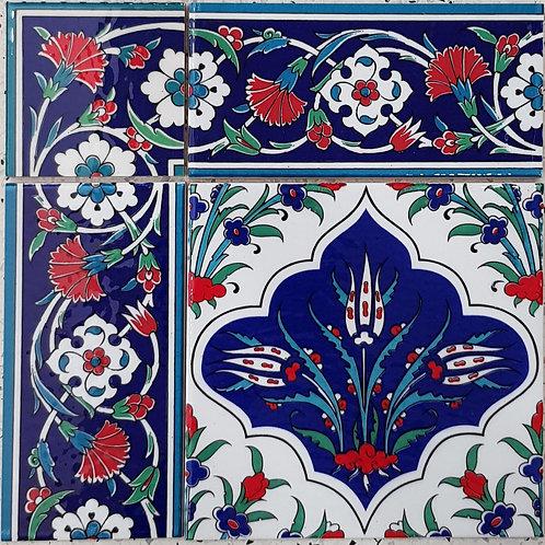 Border Tile 20x10cm Carnation Tile