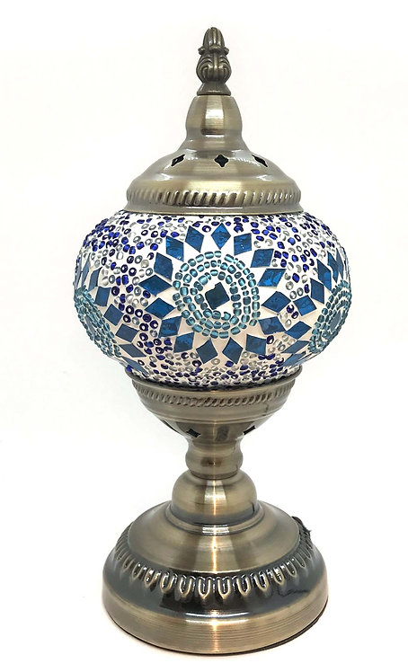 Corn Flower Blue Mosaic 13cm Stand Lamp