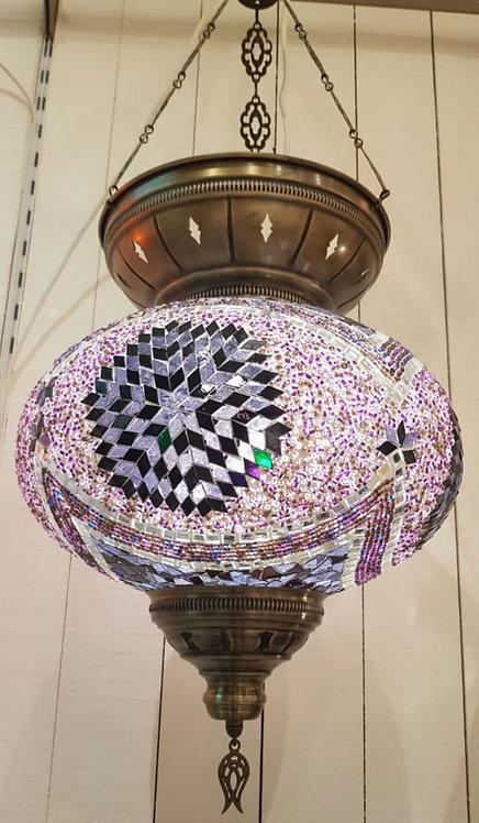Copy of XxL Hanging Mosaic Lamp Shade Purple
