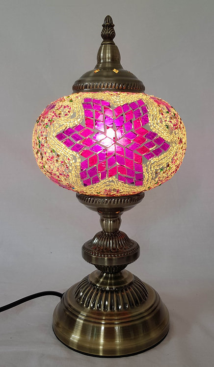 17cm Magenta Large Mosaic Stand Lamp