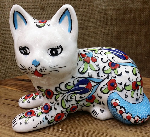 Ceramic Cat Classic Iznik Design - Large