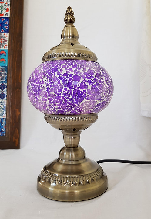 Purple Crackle Stand Lamp small