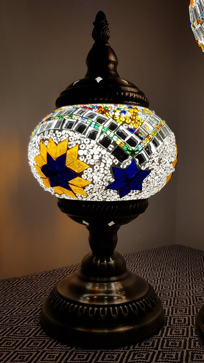 Turkish Morrocan Inspired Mosaic Stand Lamp