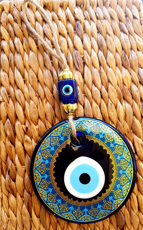 Large 10cm Gold Printed Eye