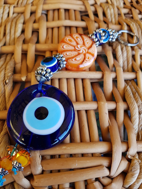 Lucky Eye Wallhanging with Lolly Bead