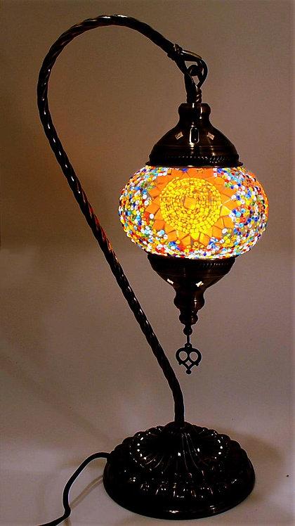 Sun Orange Swan Necked Lamp