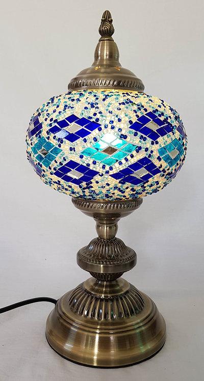 17cm Blue Diamond Large Mosaic Stand Lamp