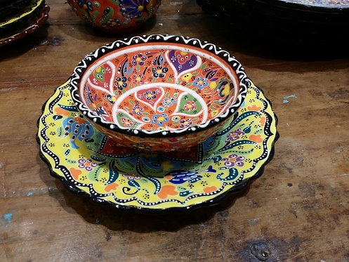 Ceramic 18cm Plate and Bowl Gift Set